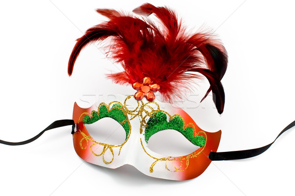 Carnival mask with feathers and diamond Stock photo © gavran333