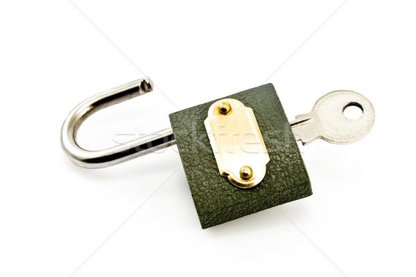Cadeado chave isolado branco internet projeto Foto stock © gavran333