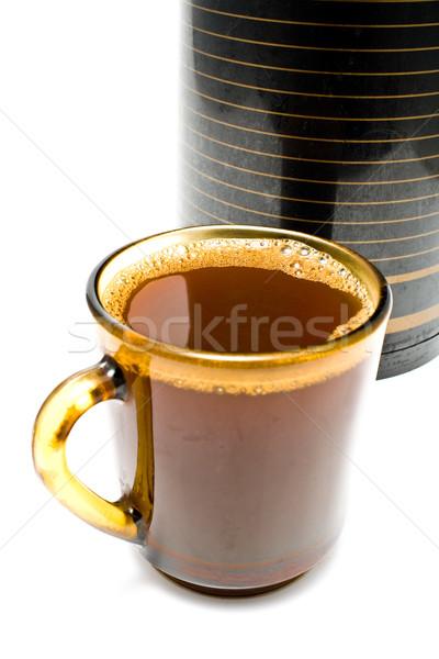 Copo café metal campo beber preto Foto stock © gavran333