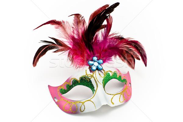 Carnaval máscara diamante isolado branco Foto stock © gavran333