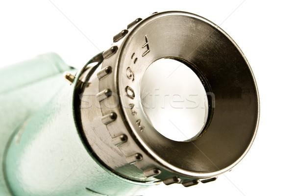 Sluiten oude slide projector lens Stockfoto © gavran333