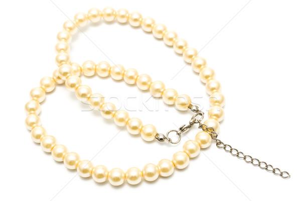 Pearl ожерелье изолированный белый моде подарок Сток-фото © gavran333