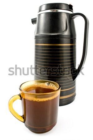 Copo café preto isolado branco cozinha Foto stock © gavran333