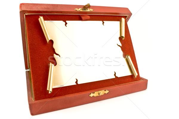 Stock fotó: Fogkő · díj · izolált · fehér · fém · sportok