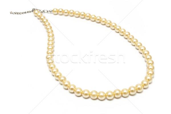 Inci kolye yalıtılmış beyaz moda hediye Stok fotoğraf © gavran333