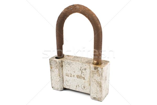 Old rusty padlock Stock photo © gavran333