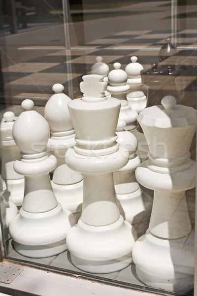 Groß schwarz weiß Schach Spiel Textur Stock Stock foto © gavran333