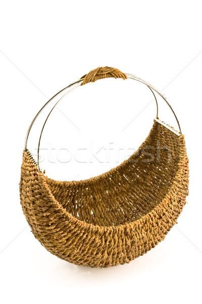 Pequeno cesta isolado branco madeira compras Foto stock © gavran333