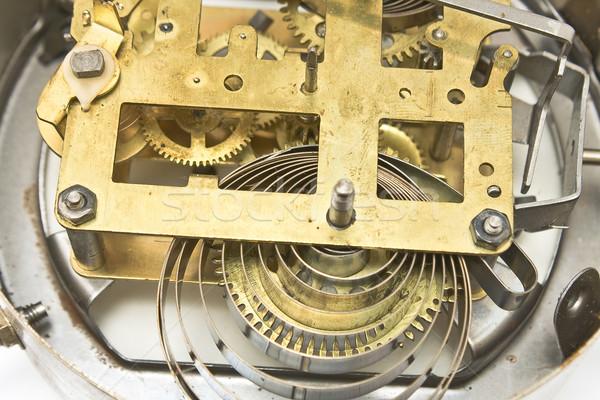 Dentro mecanismo velho despertador relógio tecnologia Foto stock © gavran333