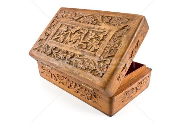 Abrir Índia isolado branco madeira Foto stock © gavran333
