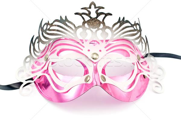 карнавальных маске изолированный белый лице фон Сток-фото © gavran333