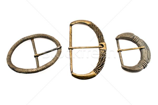 Drie antieke gordel geïsoleerd witte mode Stockfoto © gavran333