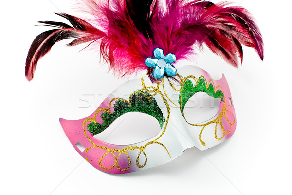 Carnival mask with feathers and diamon Stock photo © gavran333