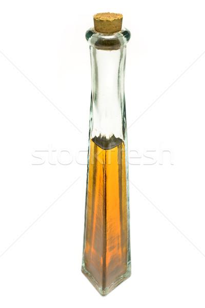 Garrafa azeite isolado branco comida folha Foto stock © gavran333