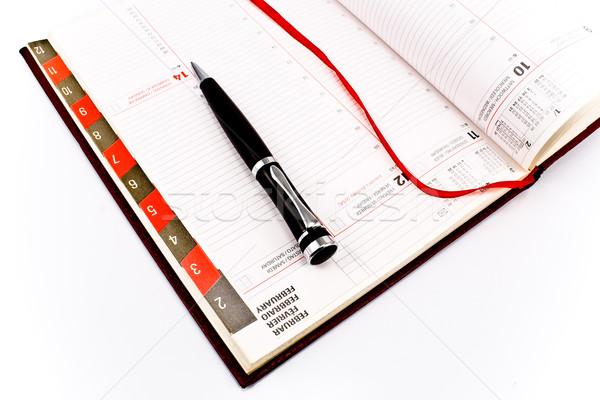Toll személyes szervező izolált fehér naptár Stock fotó © gavran333