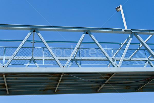 Pedestre ponte blue sky céu estrada construção Foto stock © gavran333
