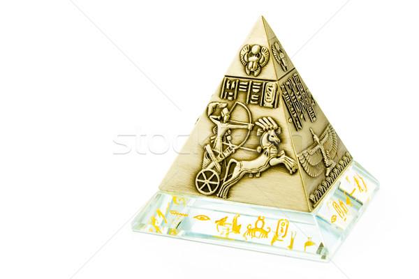 真鍮 ピラミッド お土産 孤立した 白 光 ストックフォト © gavran333