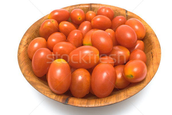 Ameixa tomates prato isolado branco Foto stock © gavran333
