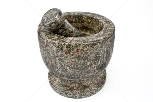 Granite mortar and pestle Stock photo © gavran333