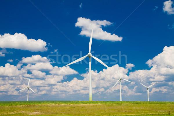 Nuages horizontal domaine ciel bleu ciel nature Photo stock © Gbuglok