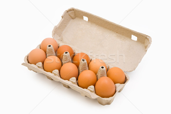 Eggs in a carton box Stock photo © Gbuglok