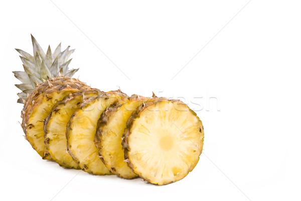 Ananas vruchten rijp geïsoleerd witte Stockfoto © Gbuglok