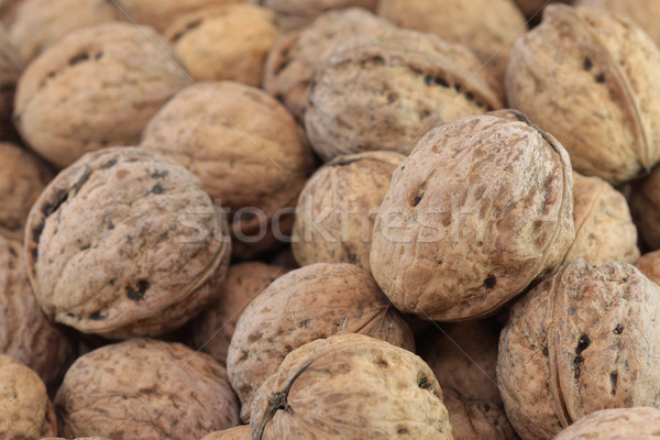 Brun alimentaire fond noix Photo stock © Gbuglok