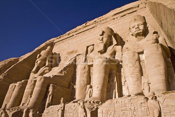 Steen Egypte tempel egyptische farao bouw Stockfoto © Gbuglok