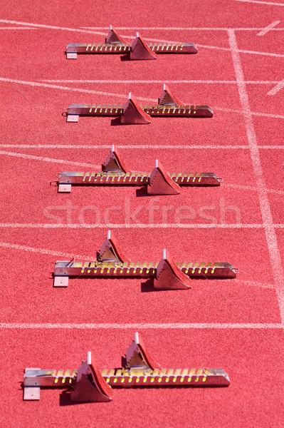 Starting blocks Stock photo © Gbuglok