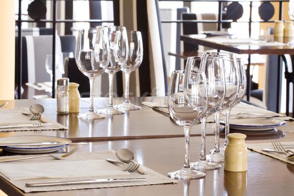 表 レストラン 眼鏡 プレート ガラス ホテル ストックフォト © Gbuglok