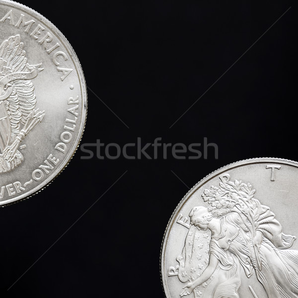 Two silver dollars, coins Stock photo © Gbuglok