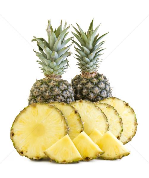Ananas fruits fraîches fruits isolé blanche Photo stock © Gbuglok