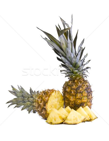Ananas vruchten rijp heks geïsoleerd Stockfoto © Gbuglok