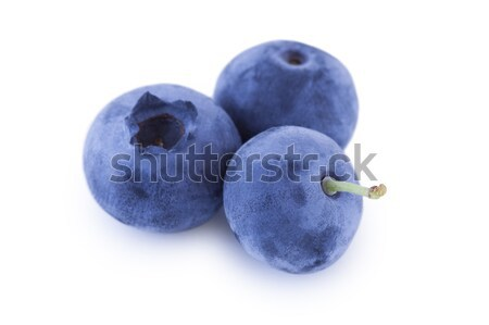 Trois bleuets isolé blanche fruits Photo stock © Gbuglok