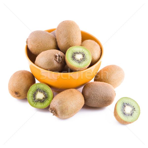 Photo stock: Kiwi · bol · fraîches · fruits · isolé