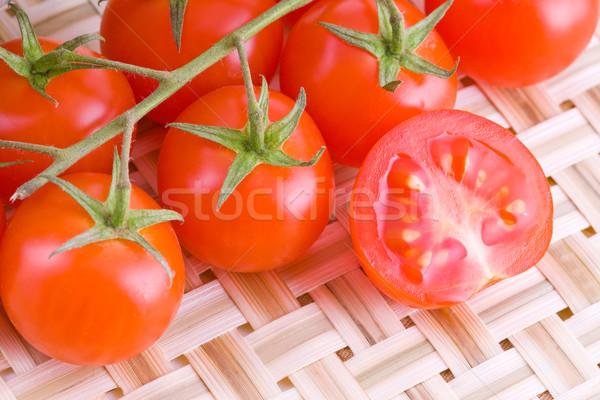 Tomates faible cocktail paille nature Photo stock © Gbuglok