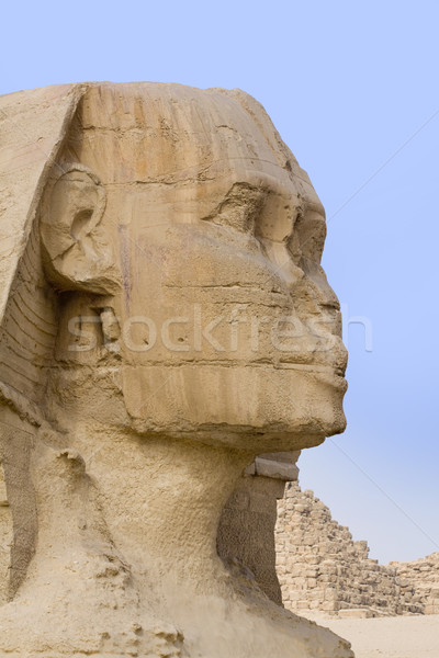 The stone face of the Sphinx Stock photo © Gbuglok