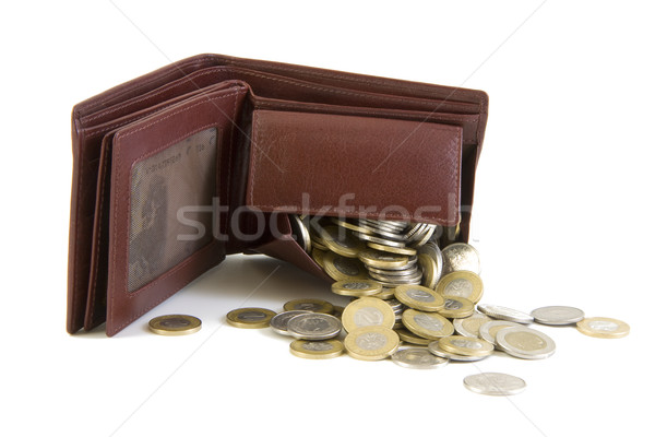 Wallet with coins Stock photo © Gbuglok