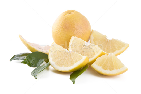White grapefruits isolated Stock photo © Gbuglok