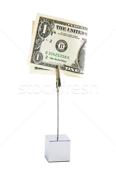 Een dollar klein stand amerikaanse Stockfoto © Gbuglok