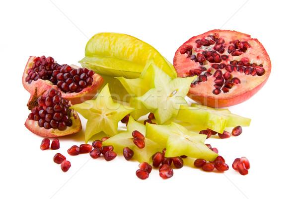 Grenade fraîches fruits isolé blanche nature Photo stock © Gbuglok