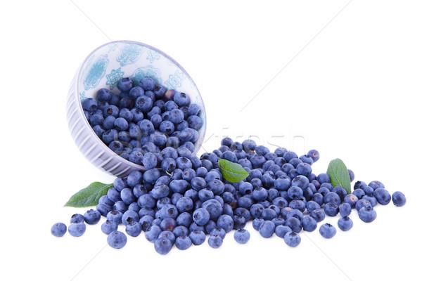 Bleuets blanche myrtille fruits bol Photo stock © Gbuglok