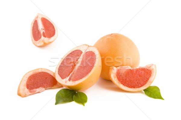 Photo stock: Rouge · fraîches · pelé · isolé · blanche · fruits