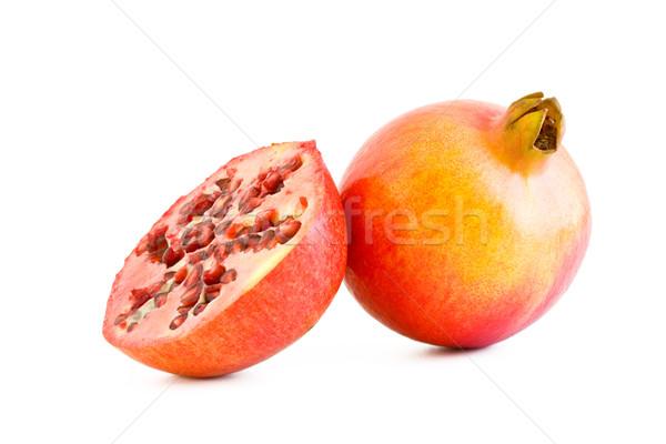 Grenade fraîches juteuse fruits isolé blanche Photo stock © Gbuglok