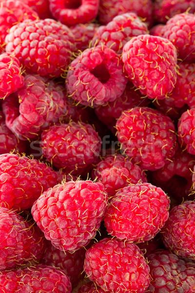 Rouge framboises fraîches fruits sweet juteuse Photo stock © Gbuglok
