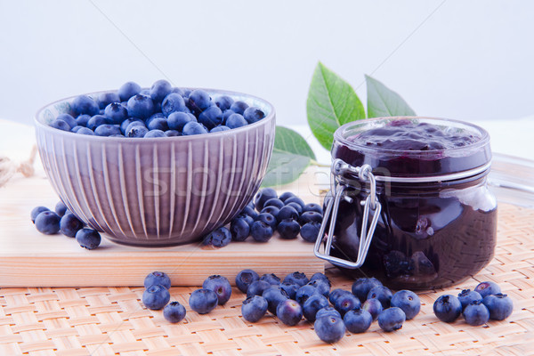 Photo stock: Bleuets · cuisine · myrtille · fruits · confiture · table · de · cuisine