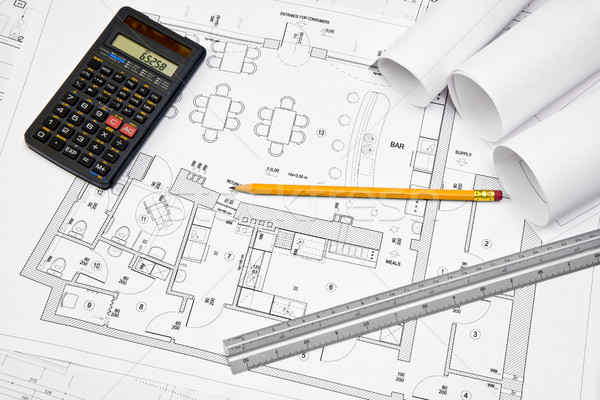 Architectural concept blueprint Stock photo © Gbuglok