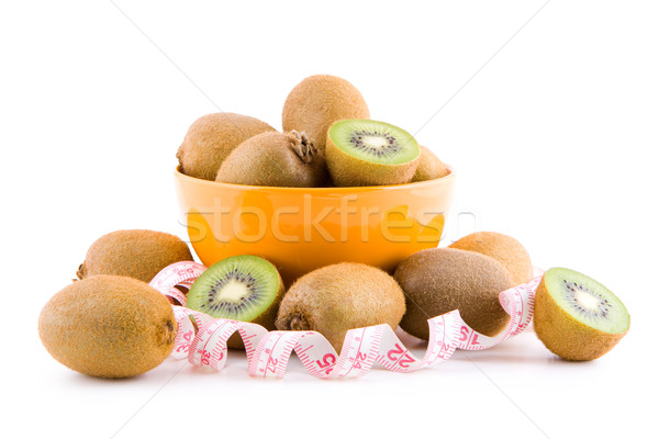 Kiwi sur mesure bande fruits isolé blanche Photo stock © Gbuglok