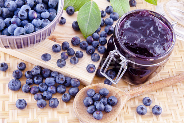 Blueberry jam on the table Stock photo © Gbuglok