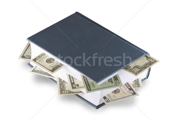 Book with dollars Stock photo © Gbuglok